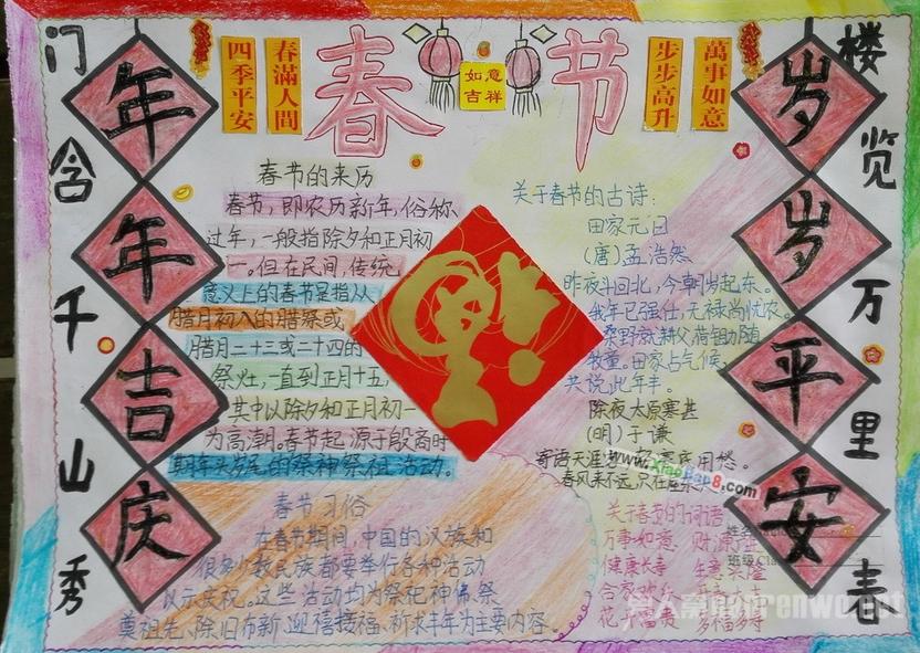2017春节的手抄报大全 关于春节的手抄报资料精选