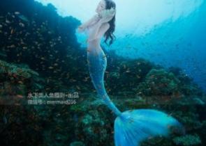 沈梦瑶- [TGOD推女神]水下美人鱼写真迷失在蓝色海