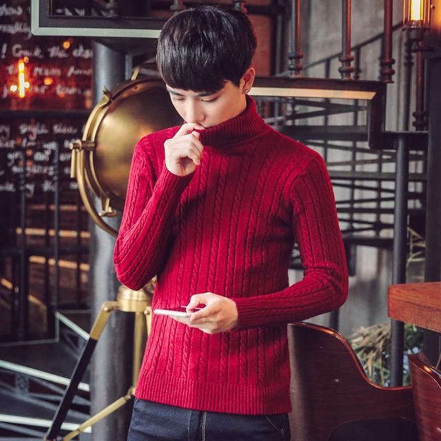 男士高领毛衣怎么搭9