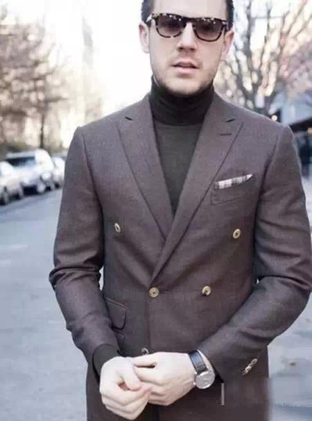 男士高领毛衣怎么搭99
