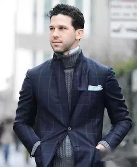 男士高领毛衣怎么搭77