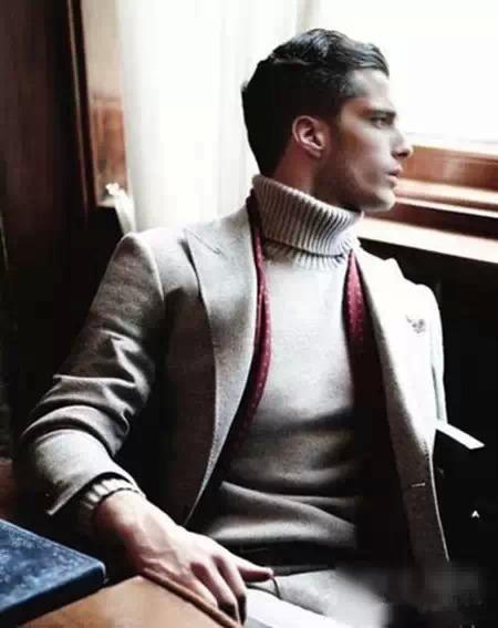 男士高领毛衣怎么搭55