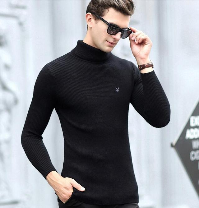 男士高领毛衣怎么搭